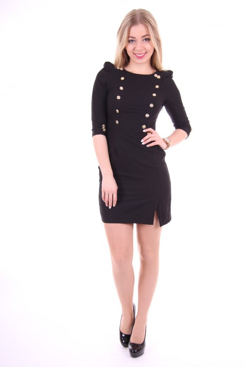 Relish Dress Black&Gold