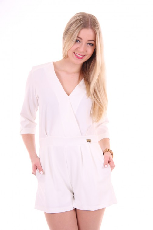 Relish kort jumpsuit in wit VIKAS