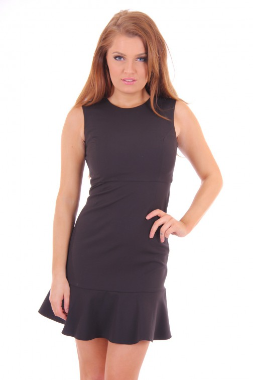 Fracomina open back dress in black