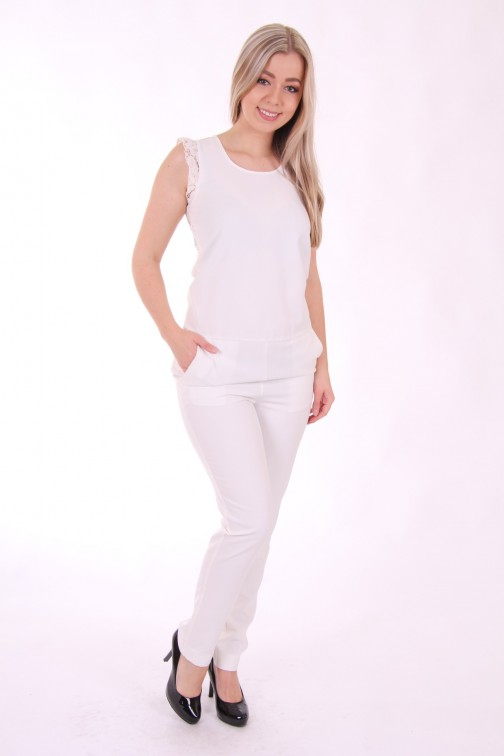 Liu Jo jumpsuit white lace