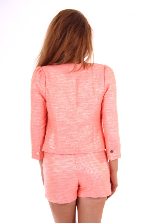 Jacky Luxury Peach Gold tweed jacket