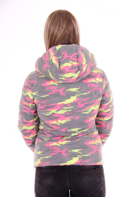 Nickelson jas ONO in camouflage fluo roze