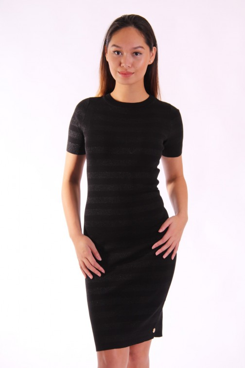 Jacky Luxury stripe dress in zwart