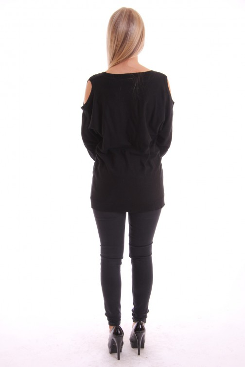 Fracomina oversized sweater open shoulders