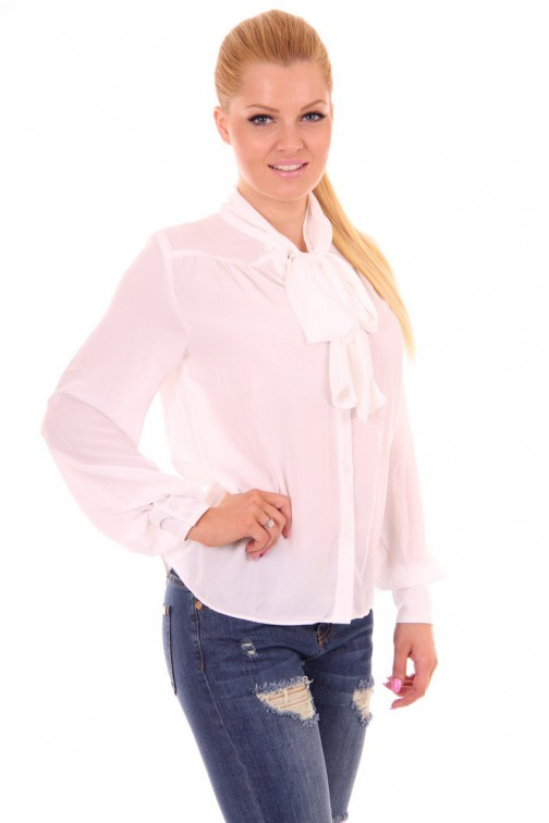 Kiims blouse in wit