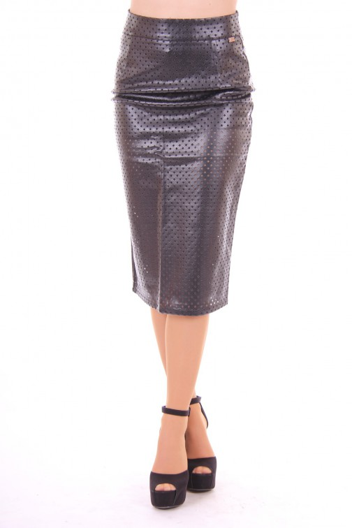 Josh V leather maxi skirt black Cecilia