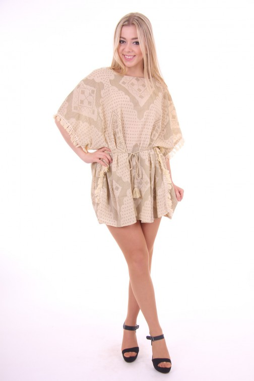 By Danie Aztek kaftan in cream