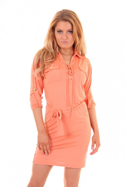 Kiims jurk in peach: Daphne