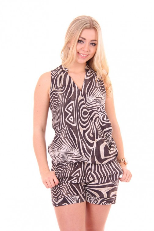 G.sel Safari jumpsuit in kort model