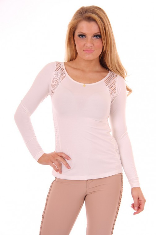 Its Given Lace shirt Anne in Off-white