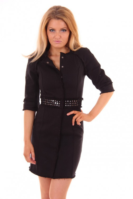 By Danie tweed dress in black