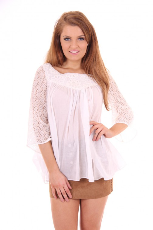 G sel lace blouse white