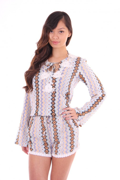 Labee Moana top in print