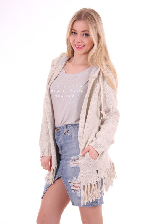 Goldbergh fringe Cardigan grey