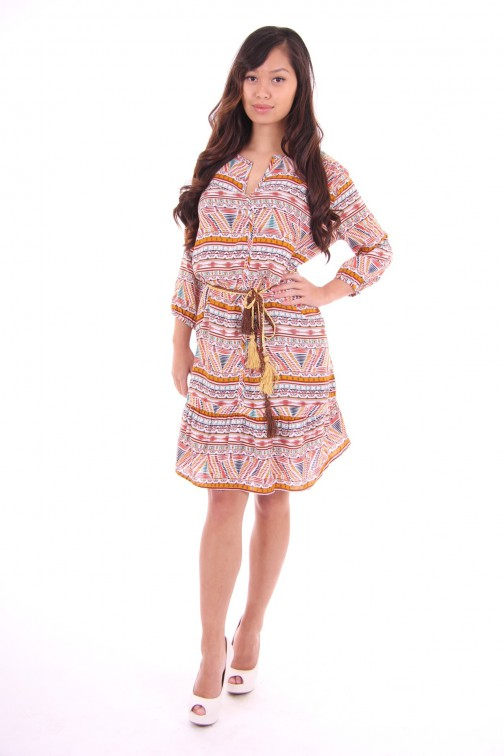 Relish Bea dress in aztek style