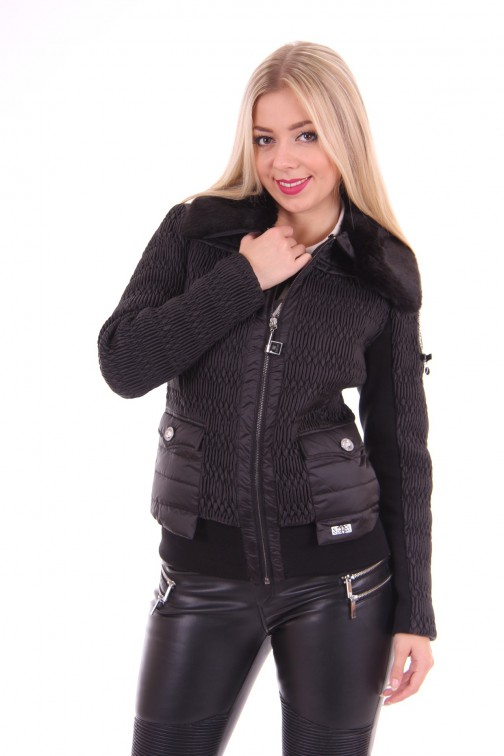 Nickelson winterjacket in zwart: Kaya