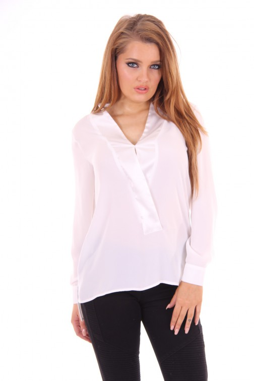 G sel bright white blouse
