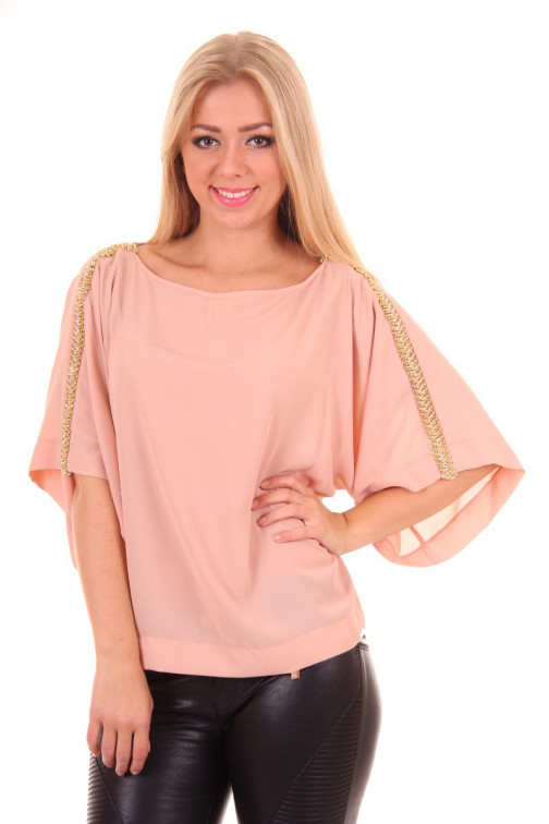 Miss Money Money butterfly top met kralen