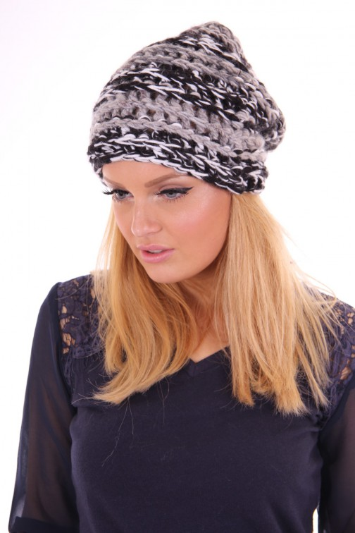 Starling knitted beanie grey melange