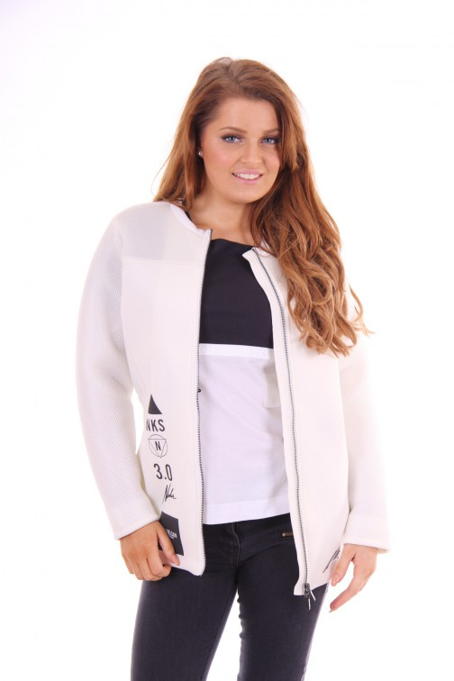 Nickelson jacket Yanaika white