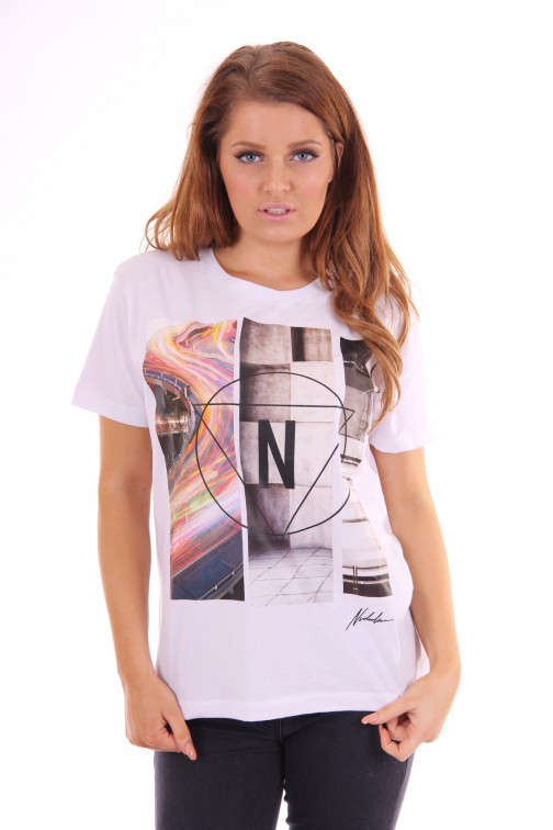 Nickelson Grafic shirt Xola white