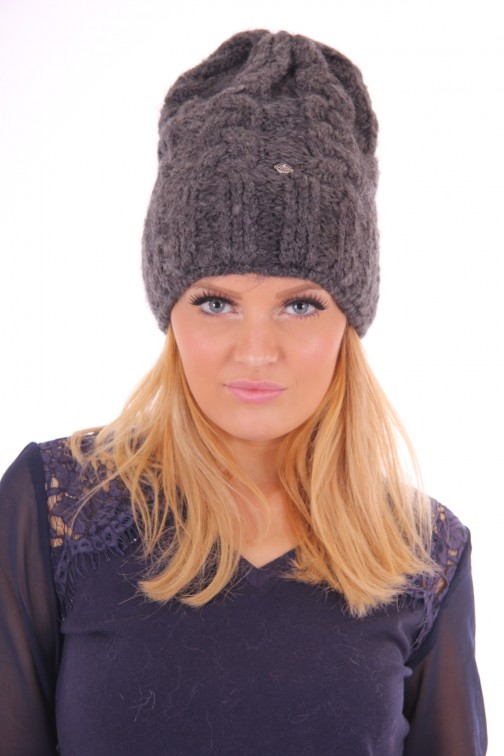 Starling beanie mohair antraciet