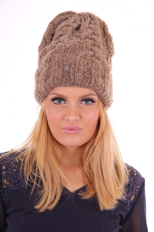Starling beanie mohair taupe