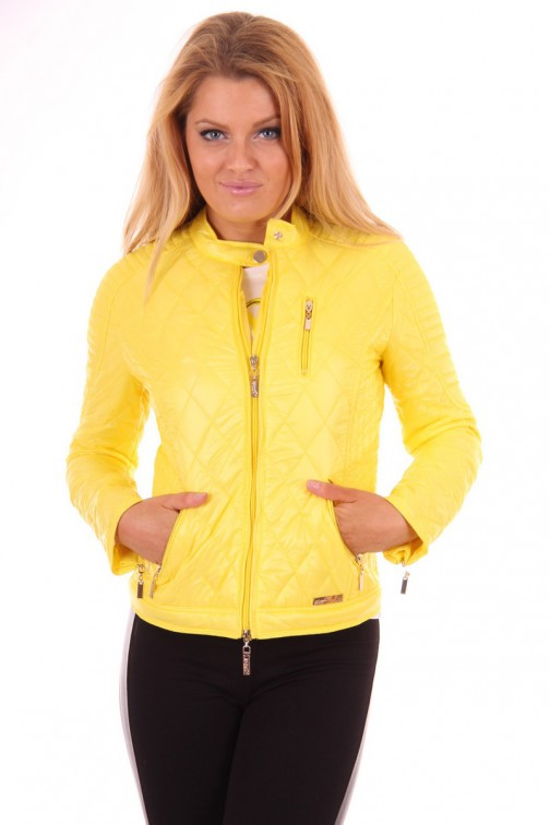 G.sel Jacket in geel: Quilted Faro jacket