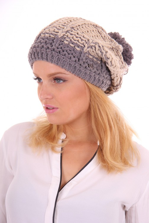 Starling muts in beaniemodel: Stone in grey and beige