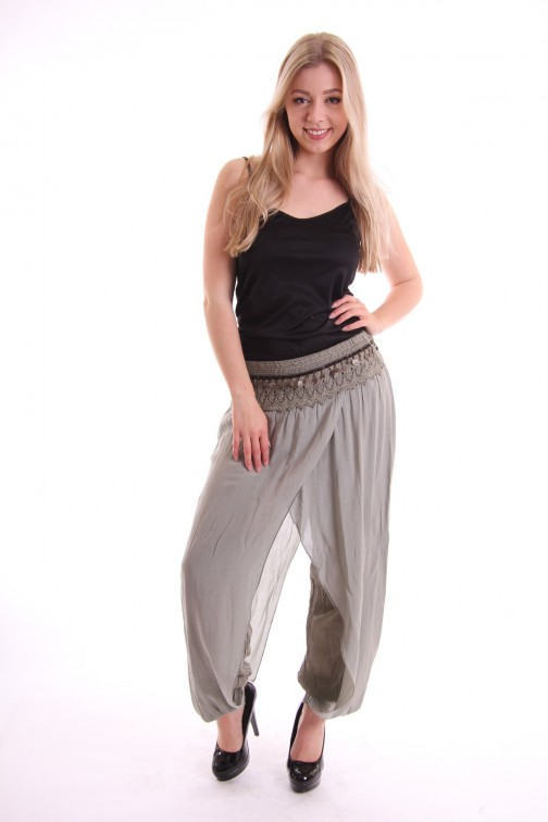 Zomerse Ibiza broek in army