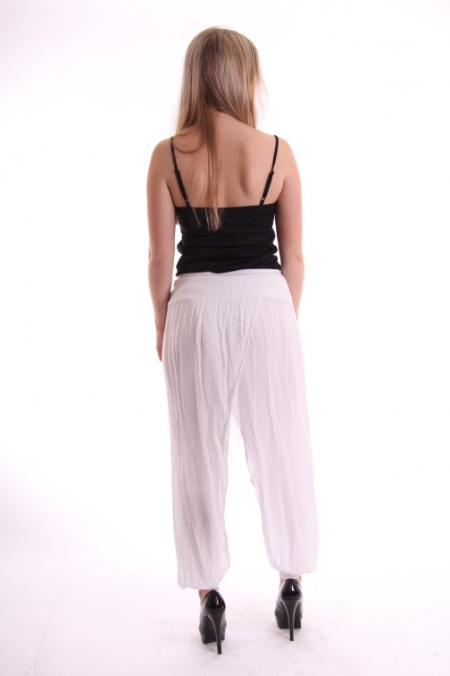 Zomerse Ibiza broek in wit