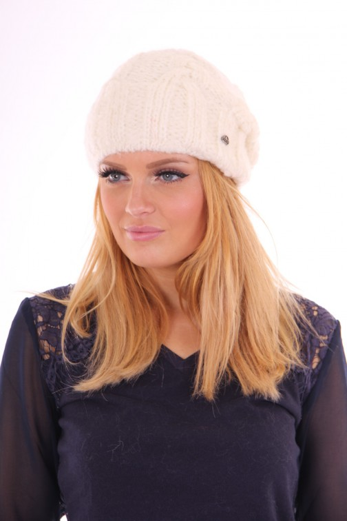 Starling beanie mohair off-white