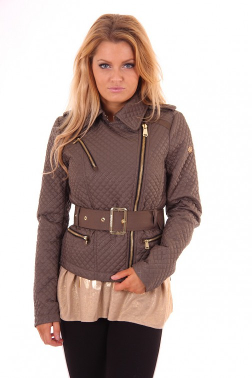 Korte Goldbergh trenchcoat in army