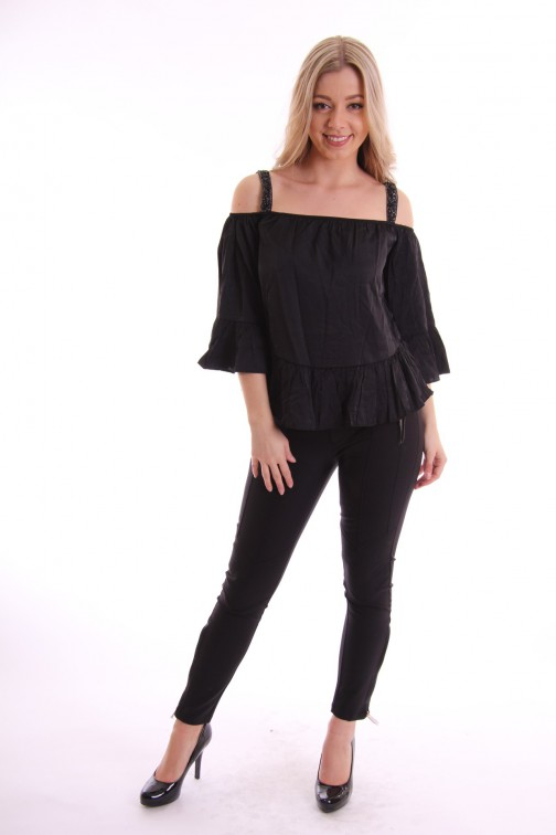 Maria Tailor off-shoulder top FYNN