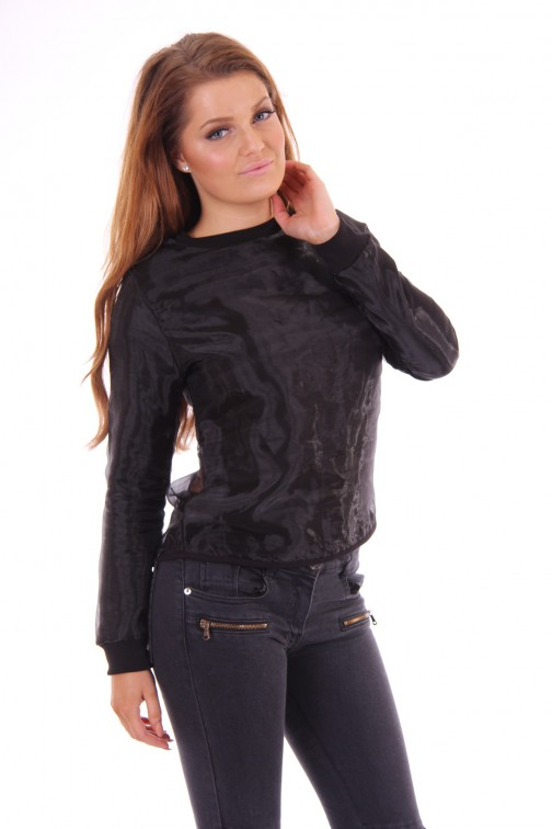 Nickelson shiny black sweater