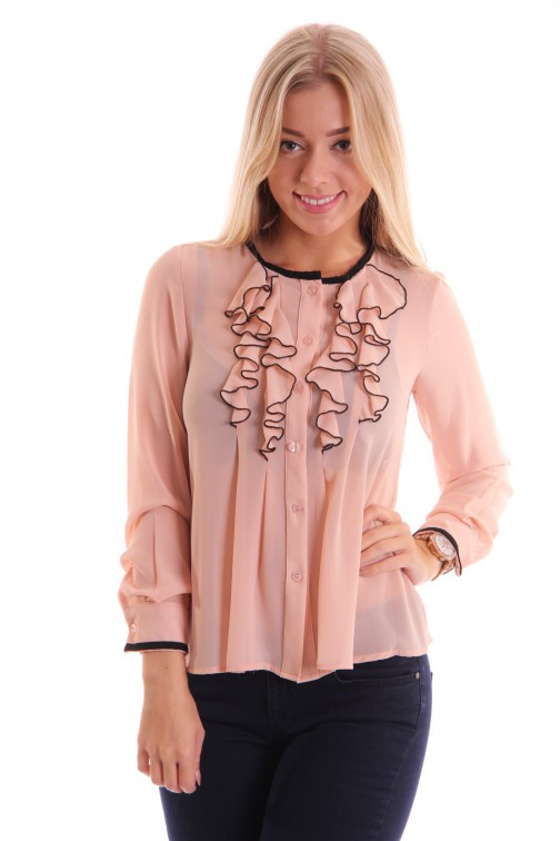 Relish Inka blouse nude ruches
