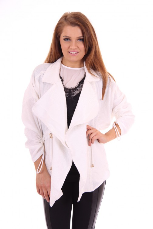 Given jacket snake print white