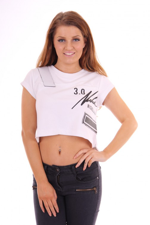Nickelson Crop Top loose-fit white