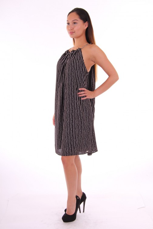 Josh V stripe dress LOIS zwart met wit