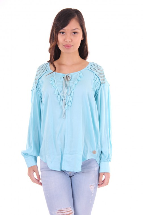 Glamorous blouse in tuquoise sarah