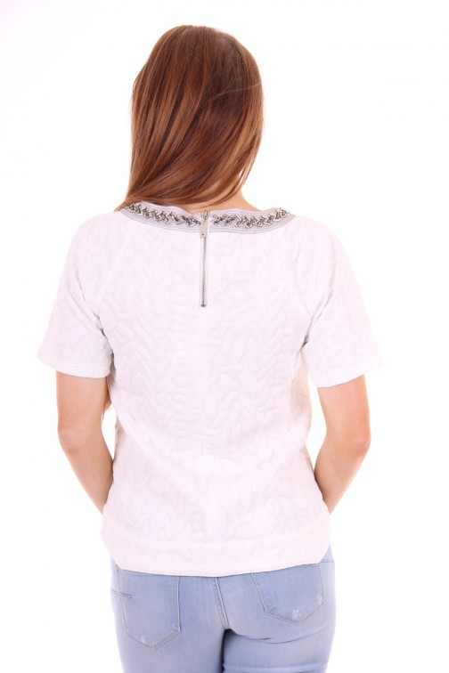 Relish hula Top White&Silver