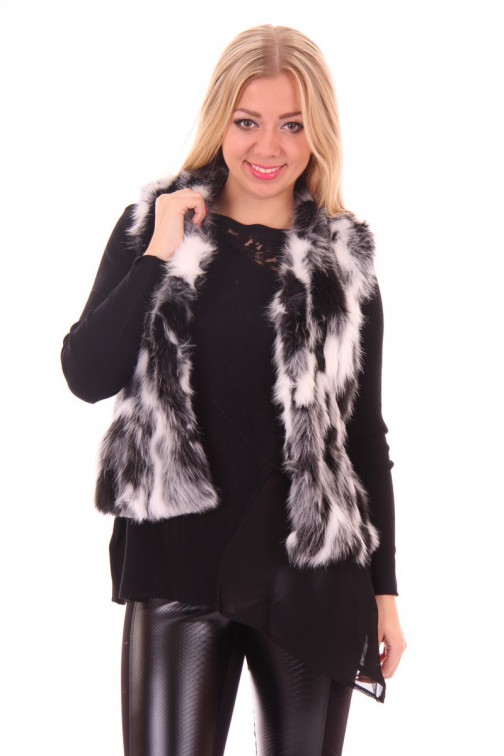 Ibana bontgilet in black-white