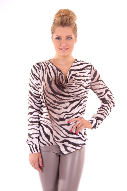 Given blouse in zebra: Courtney