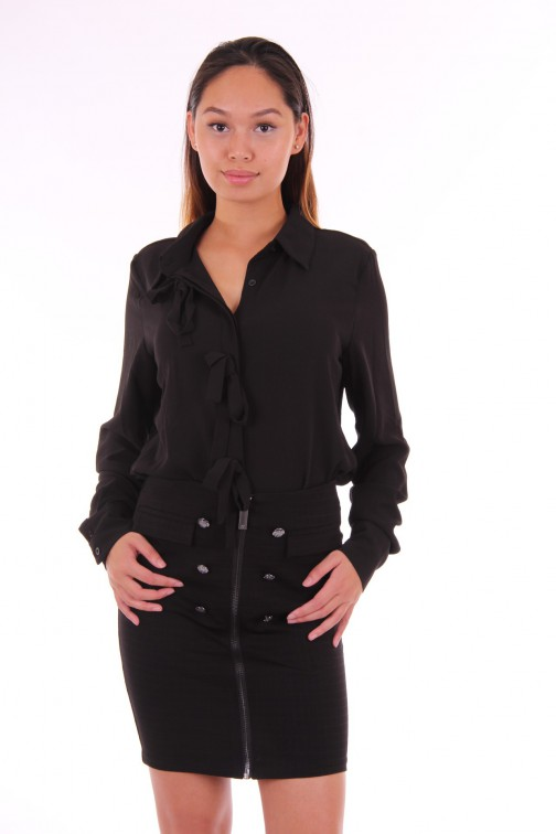 Jacky Luxury zwarte blouse bows