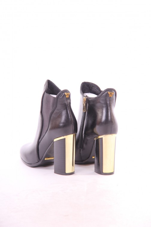 Its Given ankle boots in zwart-goud: LILY