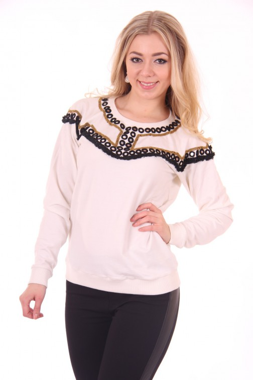 By Danie sweater in star white: Mirror sweater
