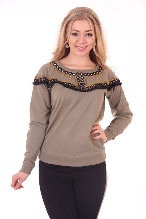 By Danie sweater in army: Mirror sweater