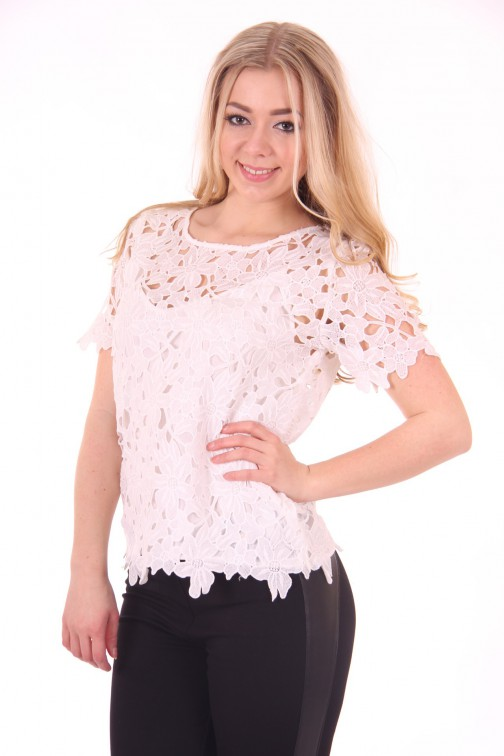Suncoo Lace top in wit; Lou