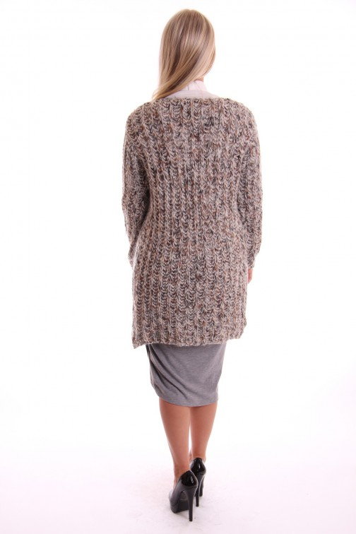 Labee cardigan Lima in grey - army