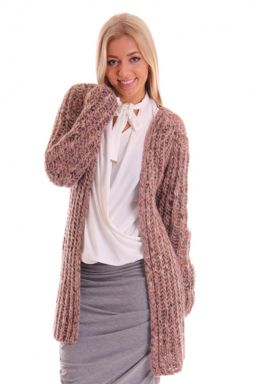 Labee cardigan Lima in grey - rose